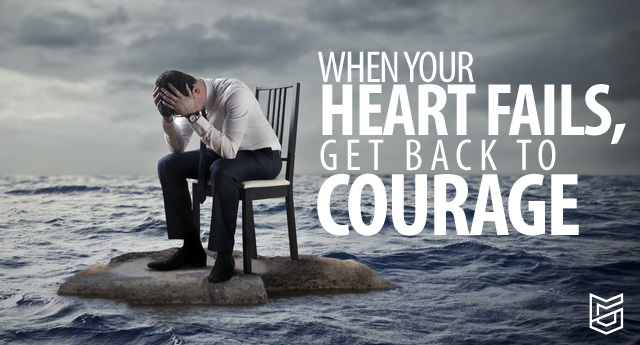 Getting back in courage after disappointment isn't a flip-of-a-switch event, either. Instead, like a tension-loaded crossbow, getting into courage is an intentional, well-calculated, deep-seated, and committed posture of the heart.
