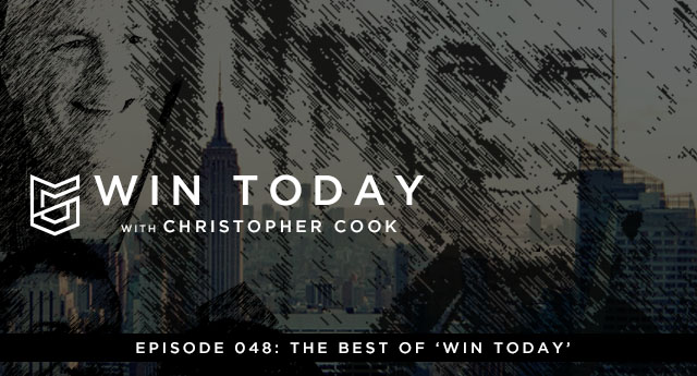 "My friends, this is going to be a fun show. This week, we're going to recap clips from a few of the ten most-listened-to episodes of ""Win Today."" Get this: ""Win Today"" has been downloaded over 12,000 times this year. That blows my mind. And it also tells me that some subjects are resonating with you all more than others. And that's precisely why I want to highlight some of our best moments together. As for me, those stats communicate to me that people just like you…people just like me…are hungry to live an effective, intentional life that is free from fear, shame, guilt, insecurity, and the rest of that junk. Listen. I know I probably sound like a broken record right now, but I'm going to say it again: it is NEVER too late to become the best you're capable of becoming. And this process of becoming whole and staying whole isn't a one-time goal. It's a process. So give yourself a BREAK from perfectionism and enjoy the journey."
